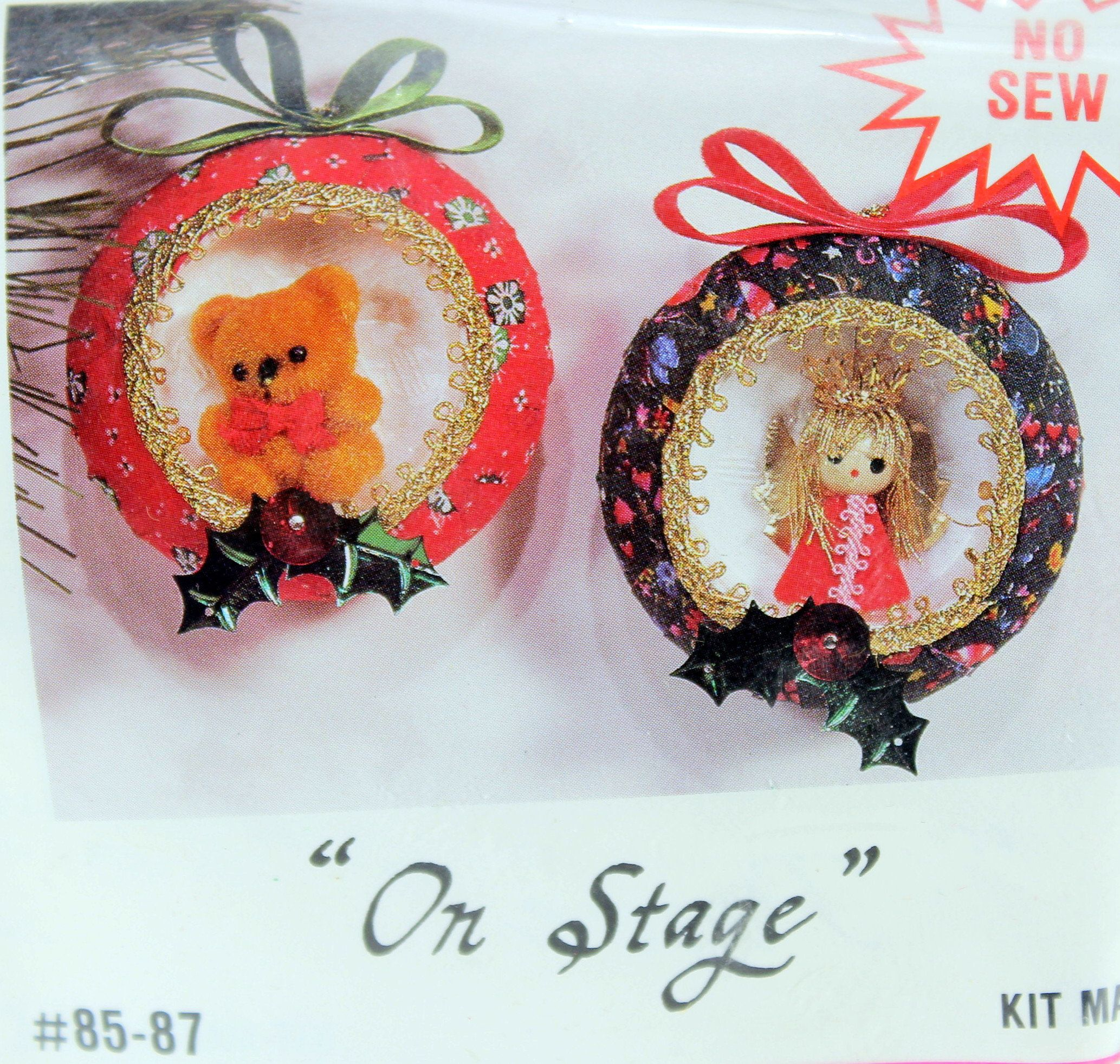 Christmas Ornament Kit, Merri Mac, On Stage, 85 87, Vintage Crafts
