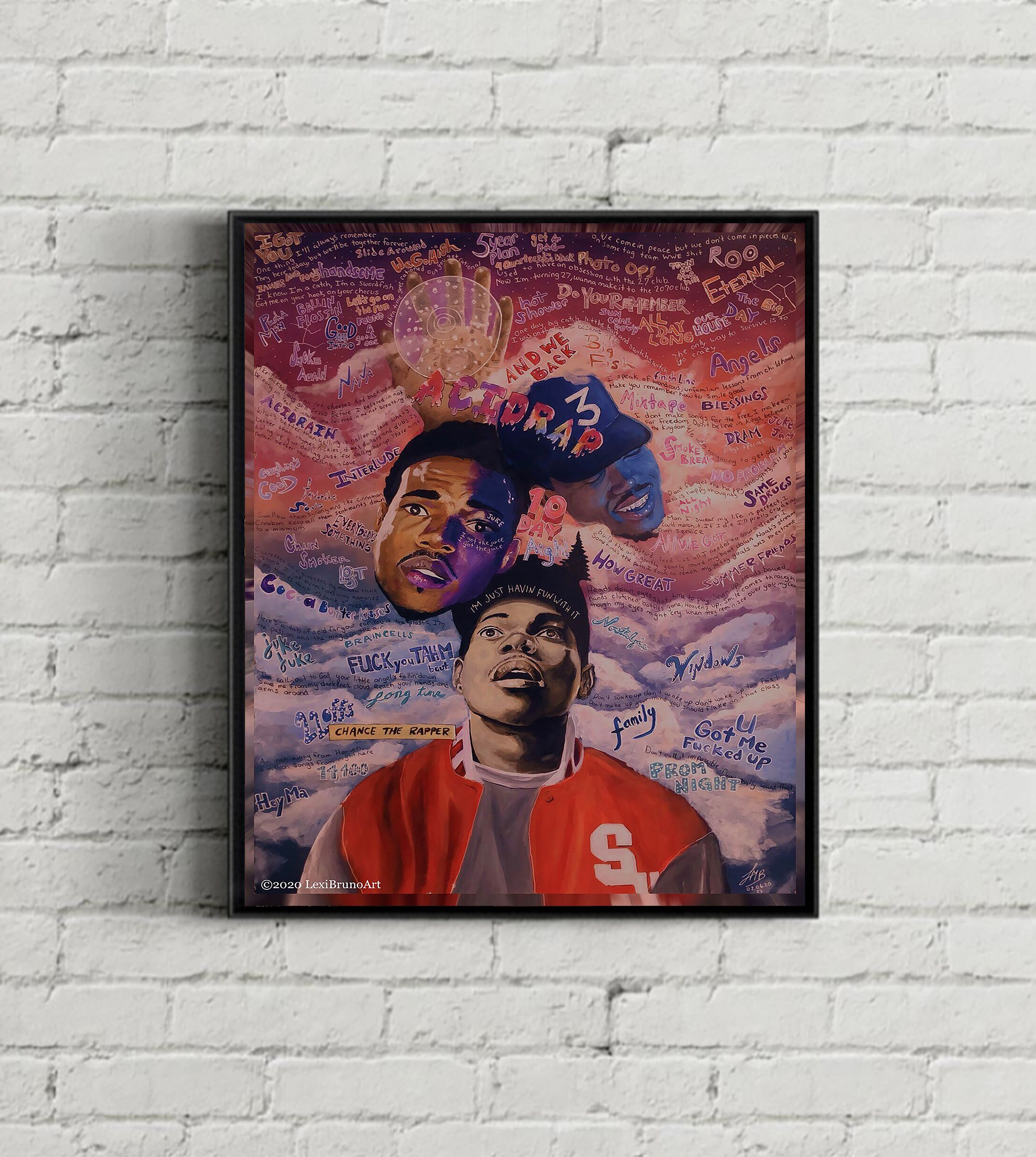 Chance The Rapper Poster Art Print Etsy Posters Art Prints Art Prints Poster Art