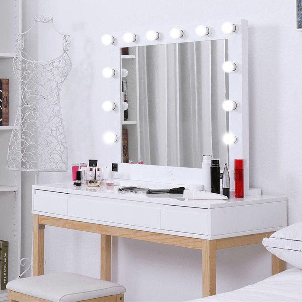 "Details about Hollywood 32"" Lighted Vanity Mirror w/13 LED"