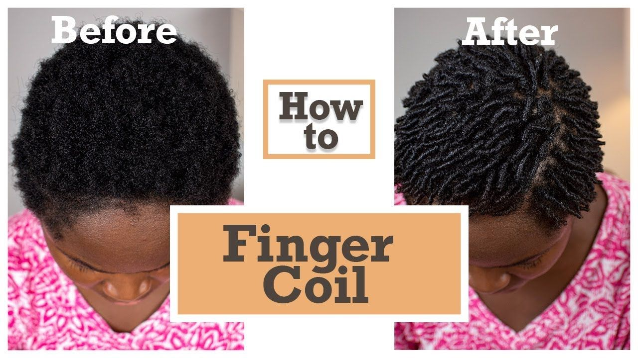 How to finger coils on short natural 4c hair using only