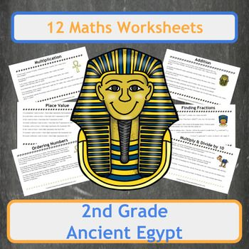 Ancient Egyptian Themed Maths Worksheets 2nd Grade Math Worksheet Fraction Word Problems Teachers Pay Teachers Math