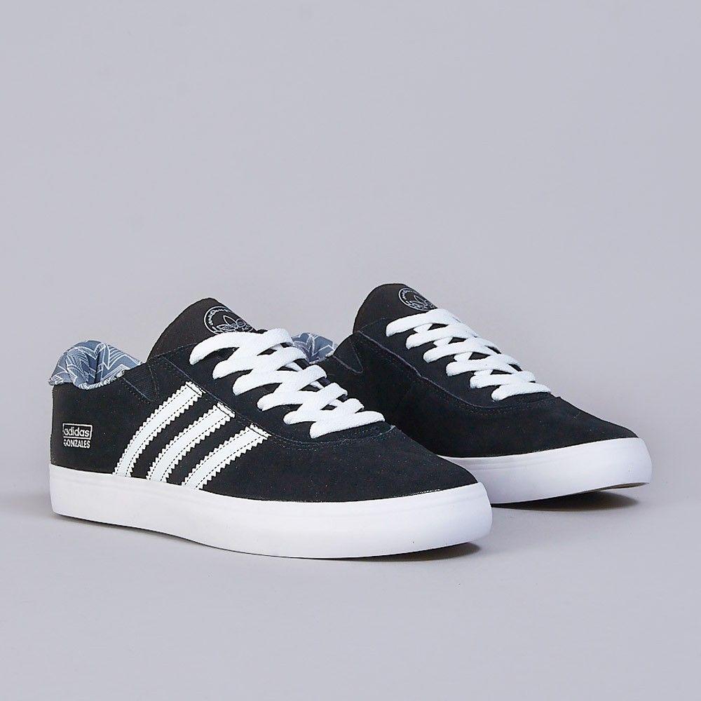 quality design c55d9 81633 Adidas Gonz Pro Shoes Core Black  White  Grey