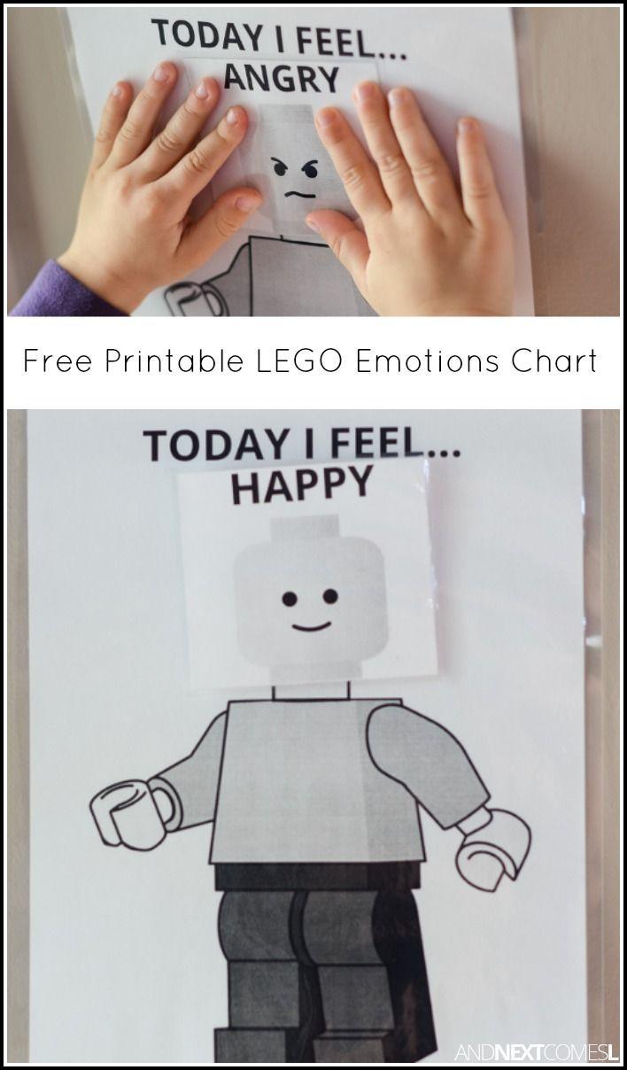 Free Printable LEGO Today I Feel Emotions Chart – Free Printable T Chart