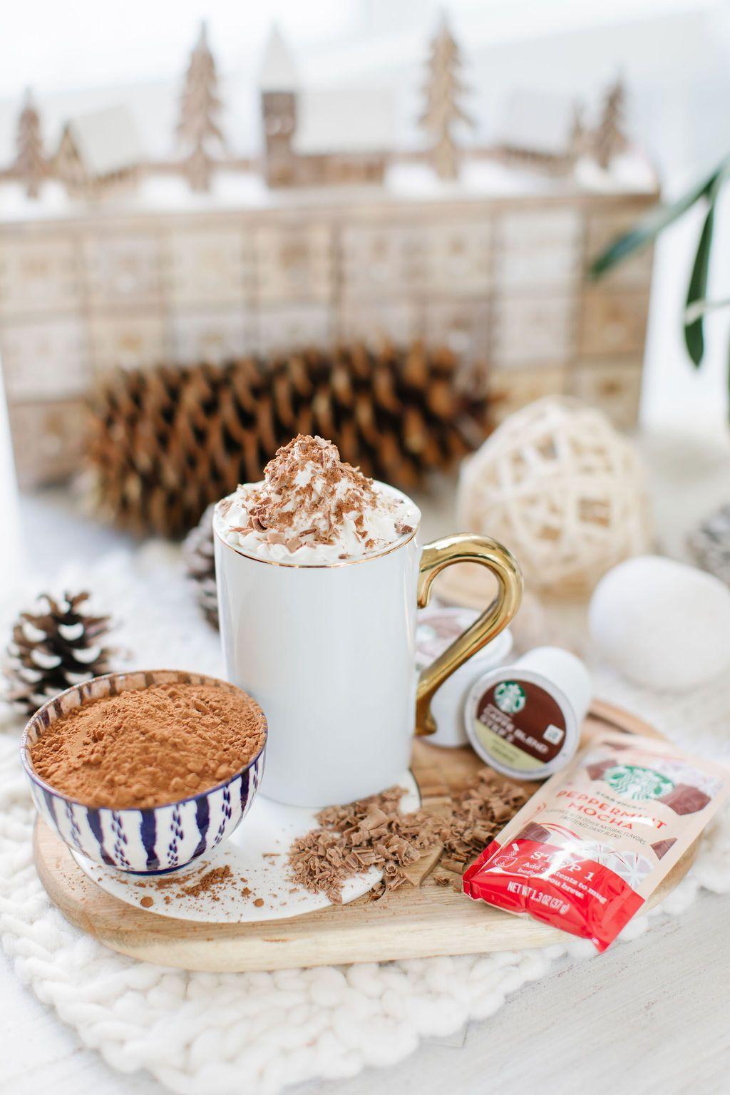 Peppermint Mocha Starbucks Holiday Drinks 3 Ways