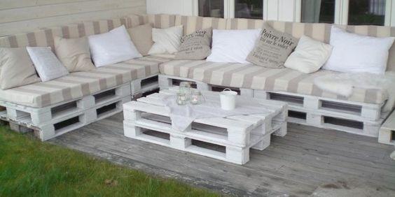 terraza hecha con palets y con estilo muebles con palets - Muebles De Jardin Con Palets