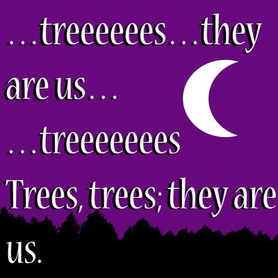 trees...they are us. Art Print
