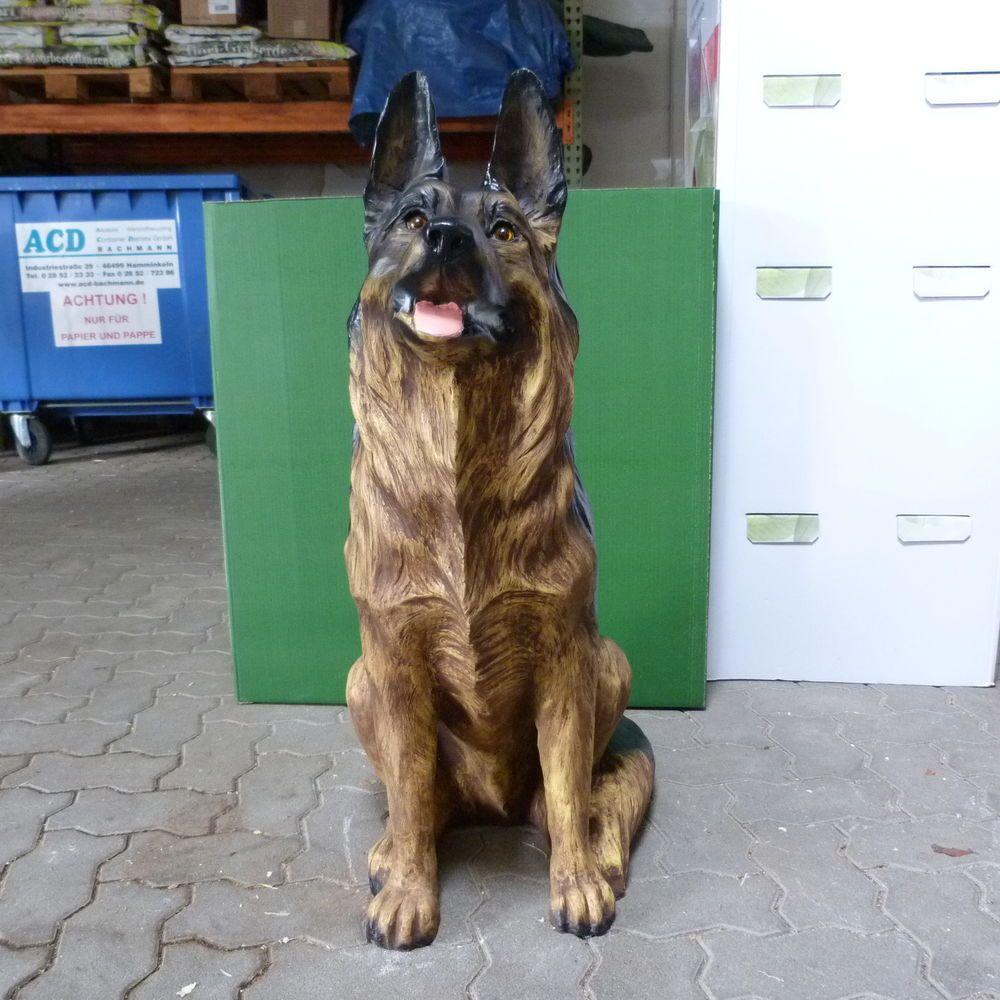 Sch ferhund 89 cm lebensgro e hunde werbefiguren for Gartenfiguren tiere kunststoff