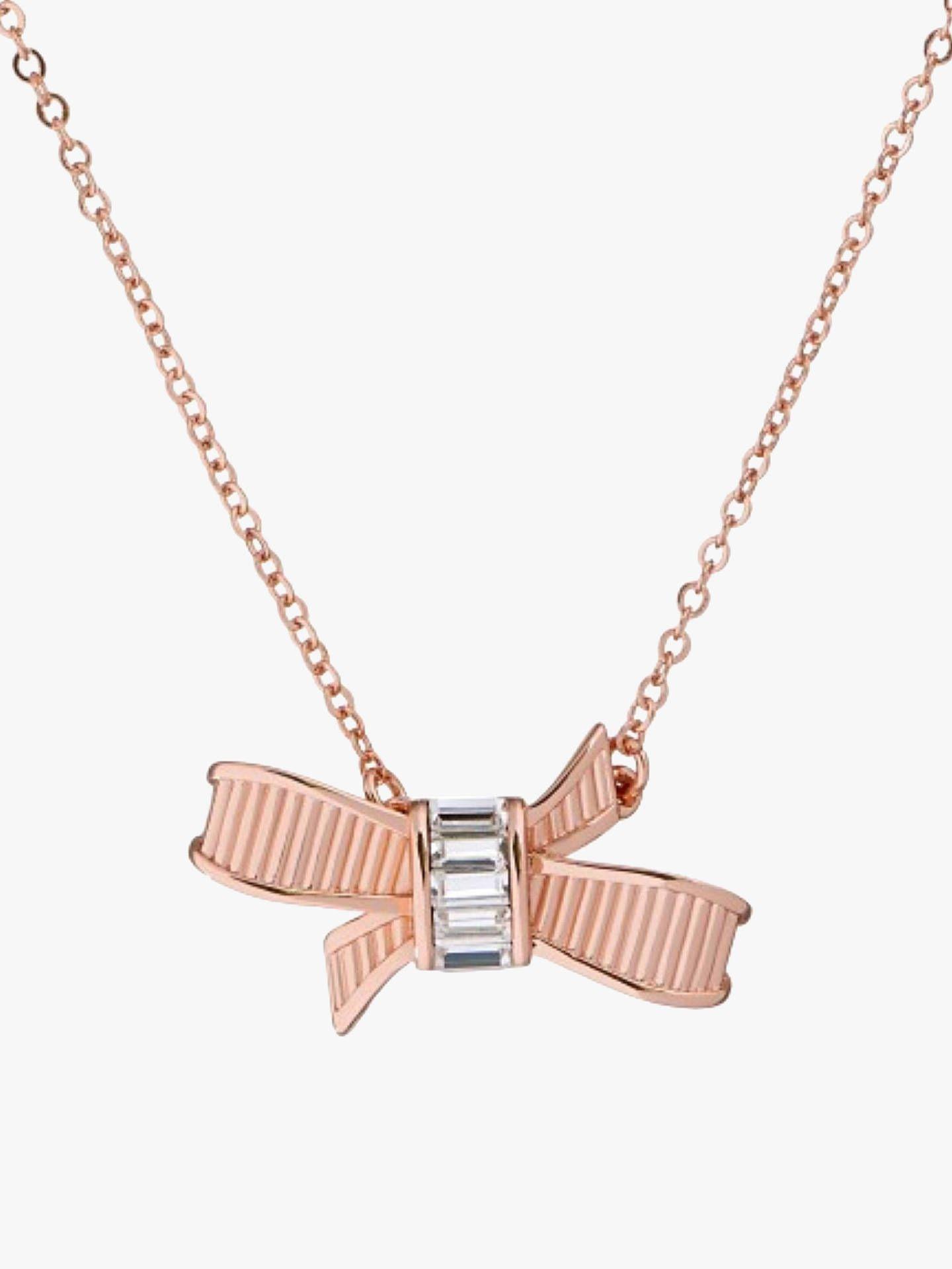04b2856bc6d5 BuyTed Baker Dameka Ribbon Bow Pendant Necklace