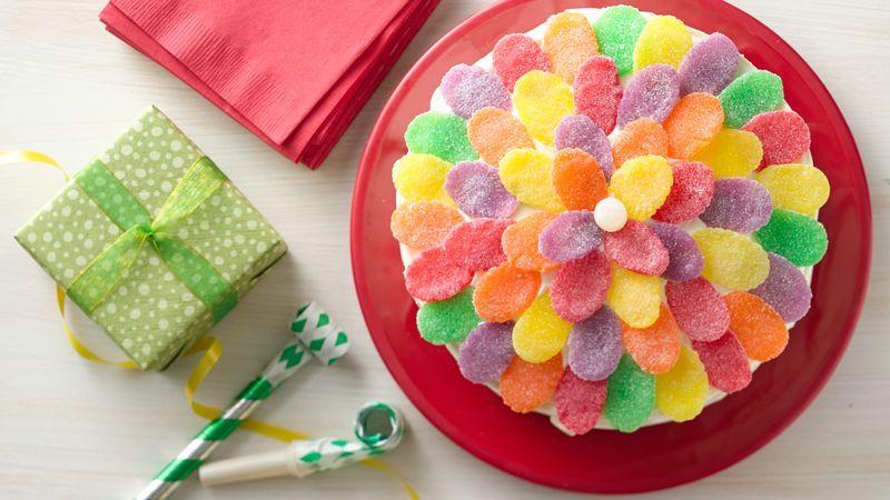 Simple Gum Drop Flower Cake Recipe Shape The ojays and Flower