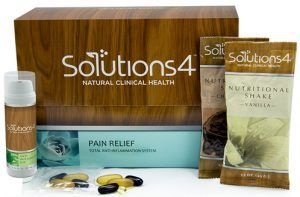 Receive aFree Solutions4 Pain Relief Kit This Pain Relief Kit includes:  Anti-Inflammatory Gel  Daily Relief Packets  Nutritional Shake    Free Solutions4 Pain Relief Kit