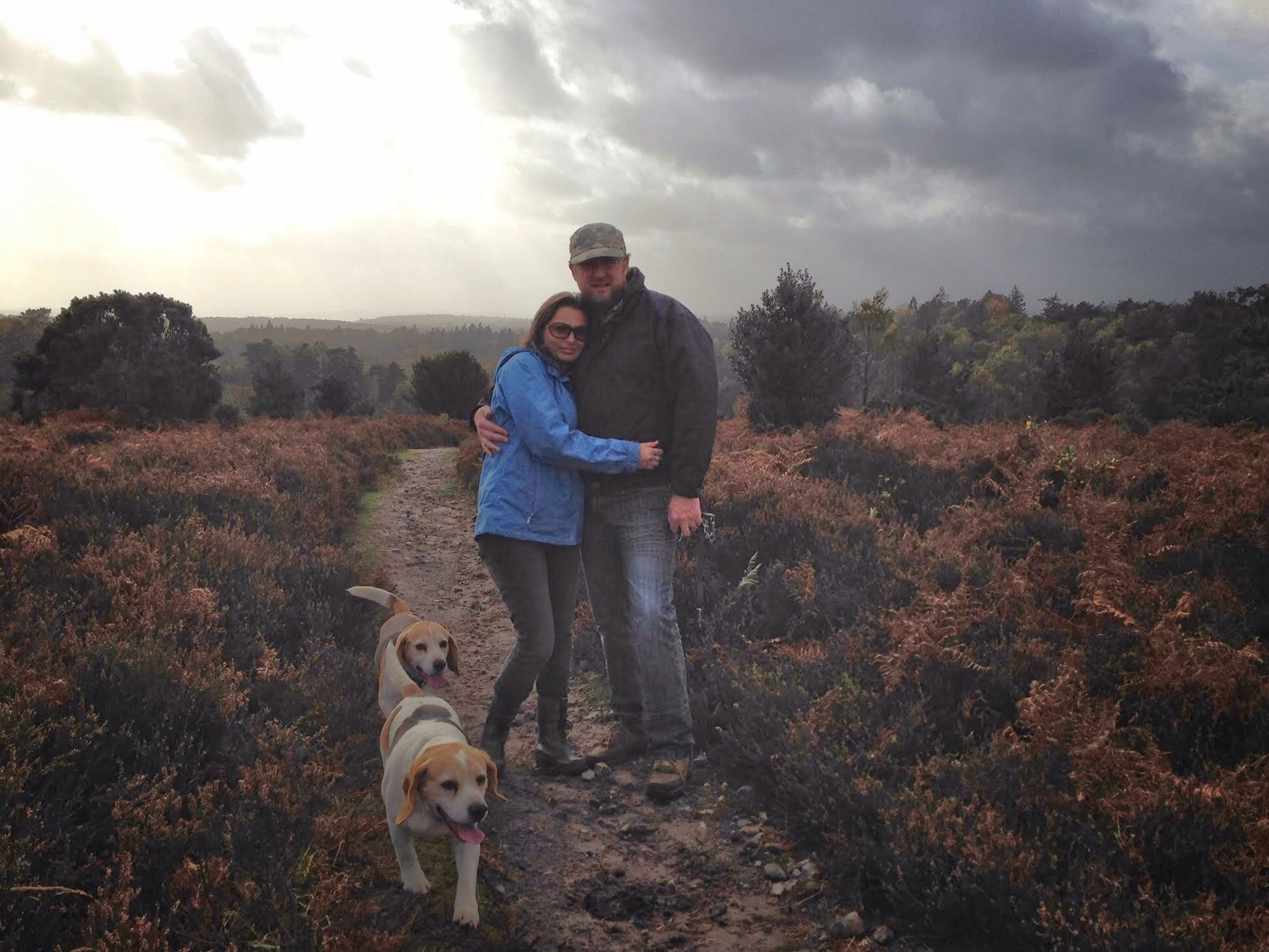 Theo (8) and an iPhone 5. Mummy and daddy, beagles optional, Surrey Hills a must.