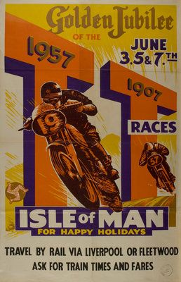 1957 tt isle of man motorbike posters pinterest vintage motorcycles motorcycle posters. Black Bedroom Furniture Sets. Home Design Ideas