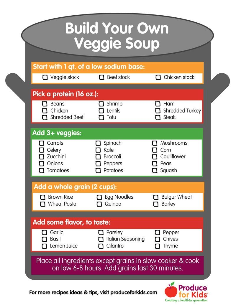 Build Your Own Veggie Soup {Free Printable} Switch up your soup game with this free Build Your Own Veggie Soup printable!