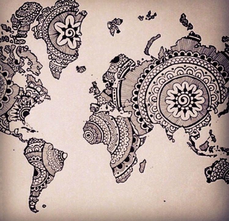 Pin by rasneet anand on restaurants pinterest mandala world map van xulonburning op etsy gumiabroncs Images
