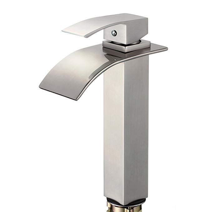 Piatti Contemporary Bathroom Sink Faucet In Brushed Nickel For