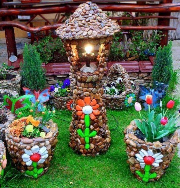 Hermosas Ideas Para Decorar Tu Jardin Con Piedras Diy Garden Decor Diy Garden Garden Decor