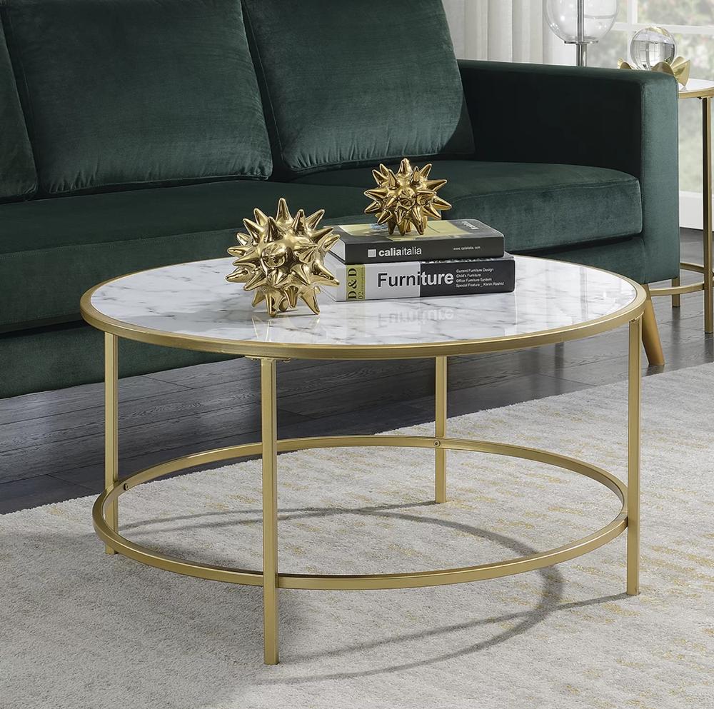 Essex Coffee Table Coffee Table Gold Coffee Table Living Room Leather [ 993 x 1000 Pixel ]