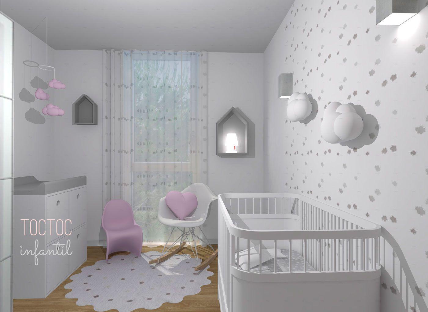 Pinceladas de rosa toc toc infantil hab pinceladas de for Programa para decorar habitaciones online