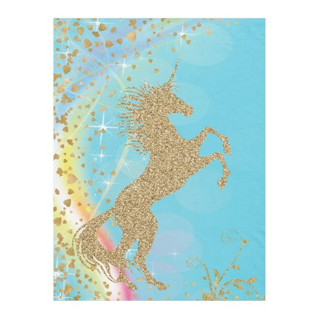 Magical Unicorn Blanket #unicorn #girlsunicorn #littlegirlbirthday #unicorn