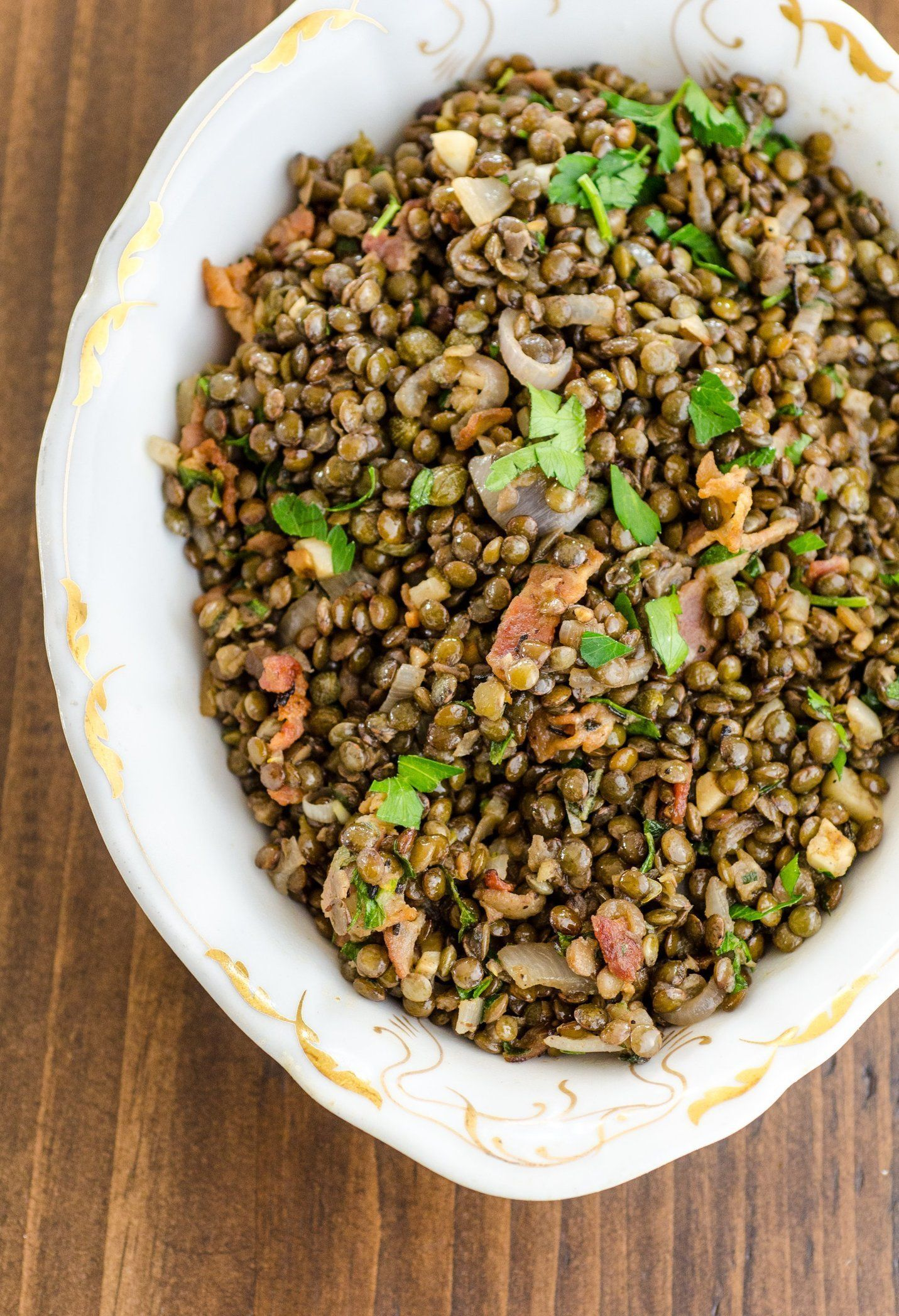 how to cook french lentils for salad