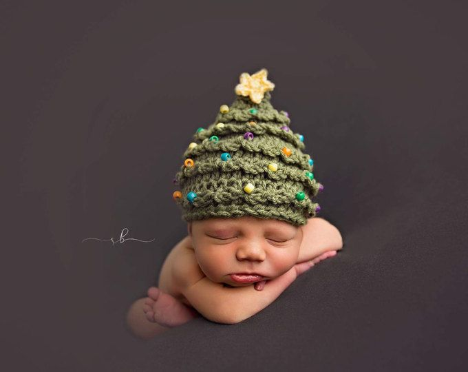 Christmas Tree Hat KNITTING PATTERN   My First Christmas   First ... 68f53e649007