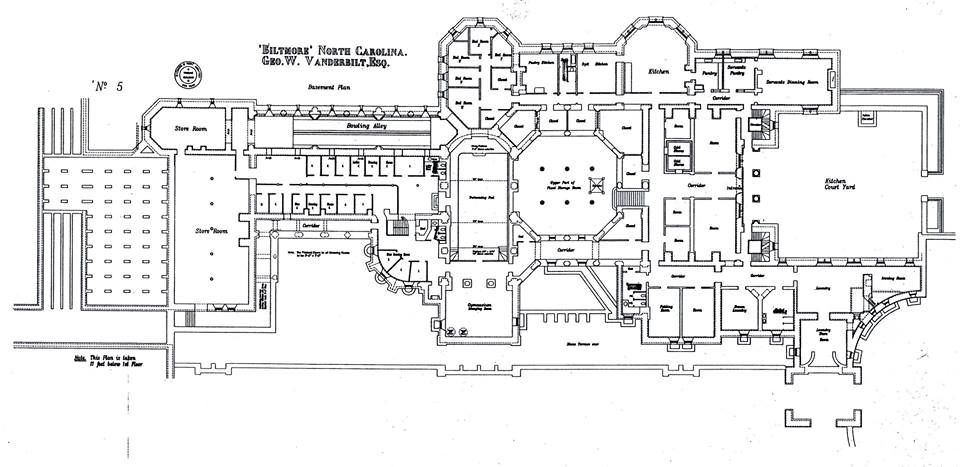 biltmore house- basement- floor plan | biltmore estate | pinterest