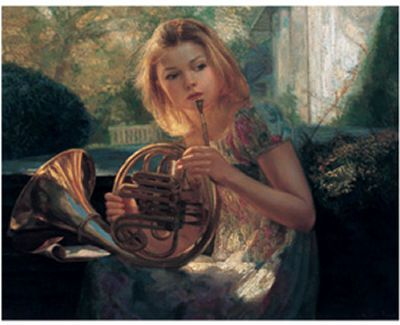 Girl with French Horn