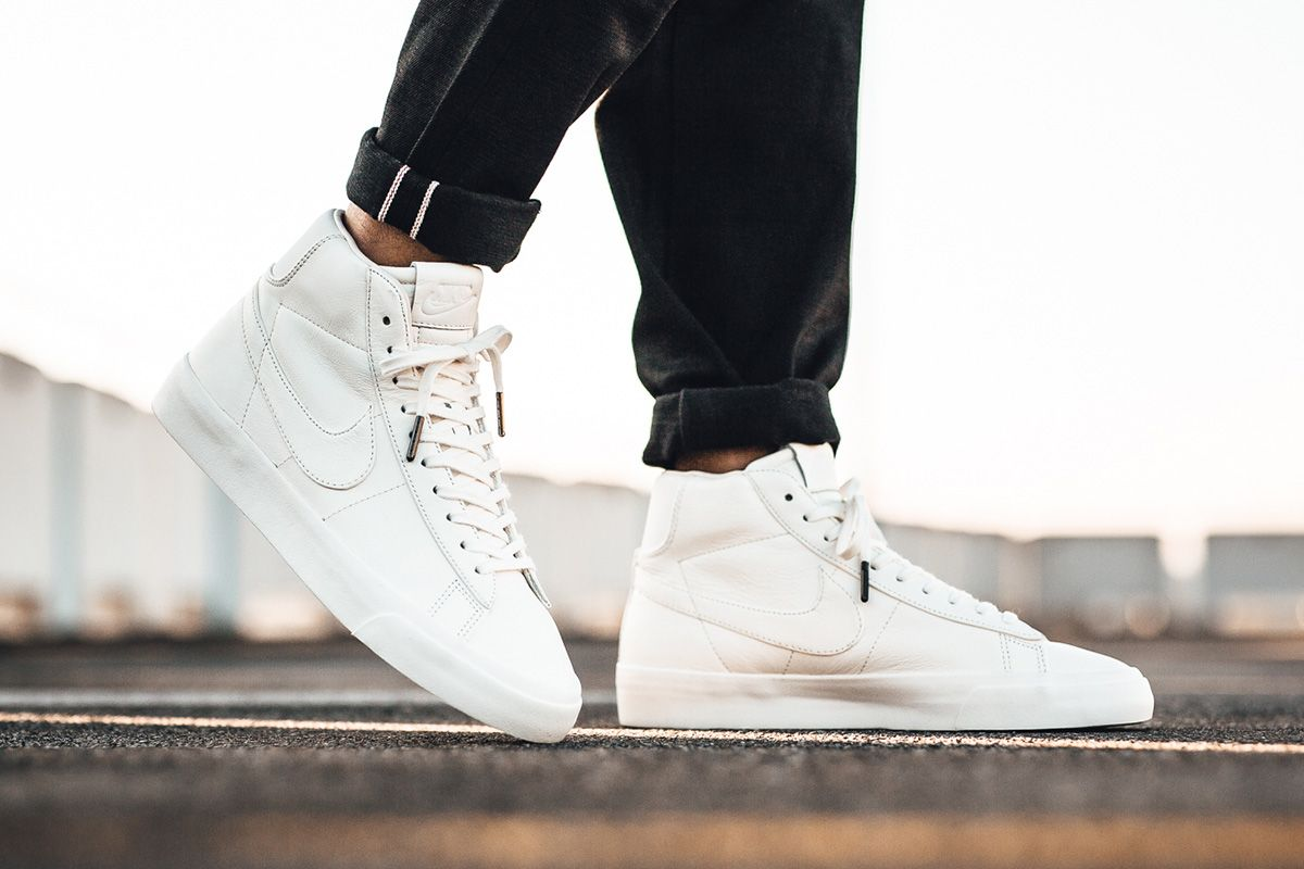 new arrival e4ebb ff316 On Foot NikeLab Blazer Studio Mid