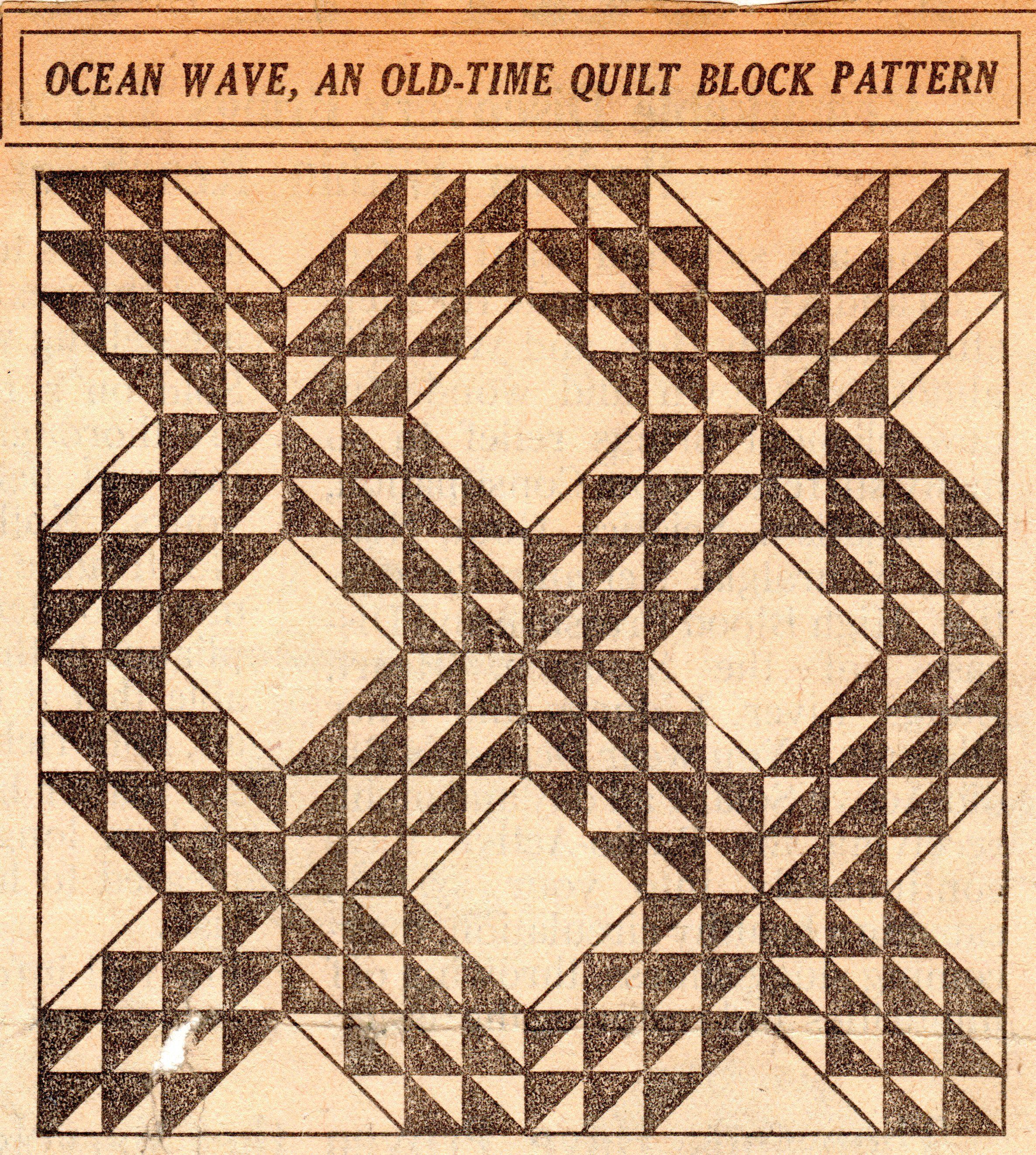 Vintage-Crafts-and-More-Ocean-Wave-Old-Time-Quilt-Block-Pattern ...