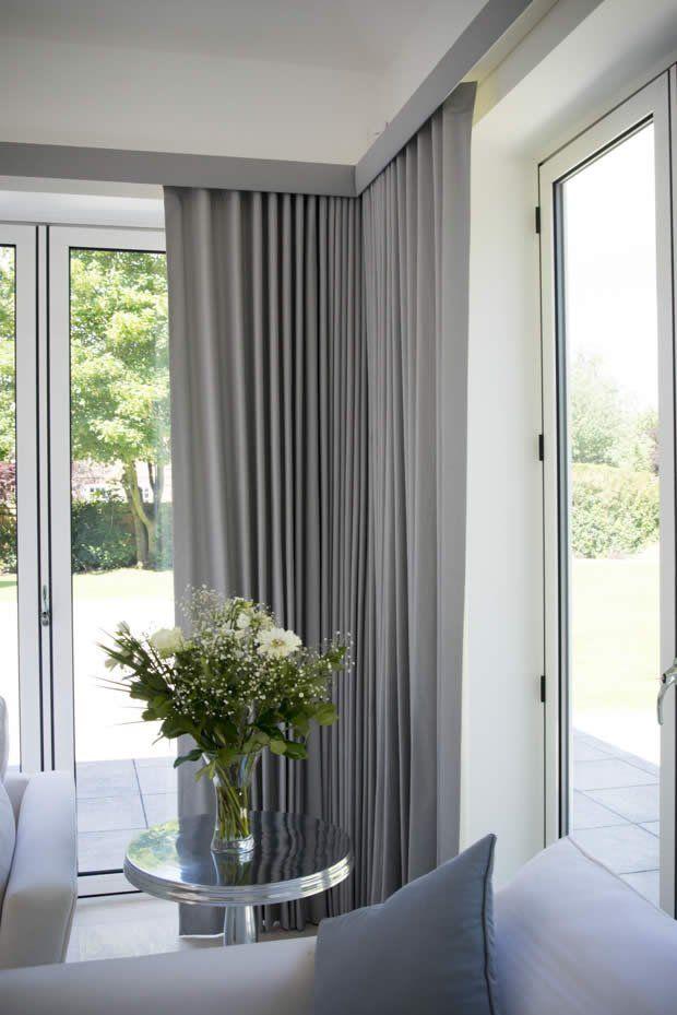 Modern Pelmet For Bay Window And Bifold Doors Curtains