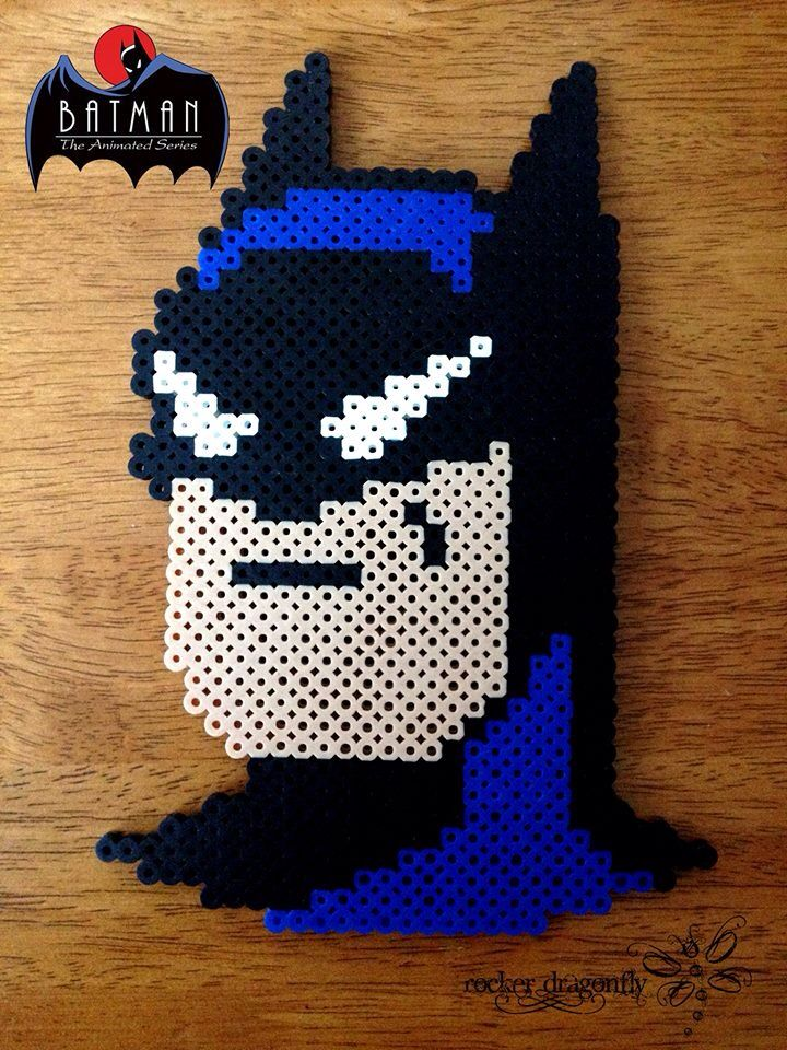Batman  (From Batman: The Animatec Series) - Perler Bead Creation by RockerDragonfly