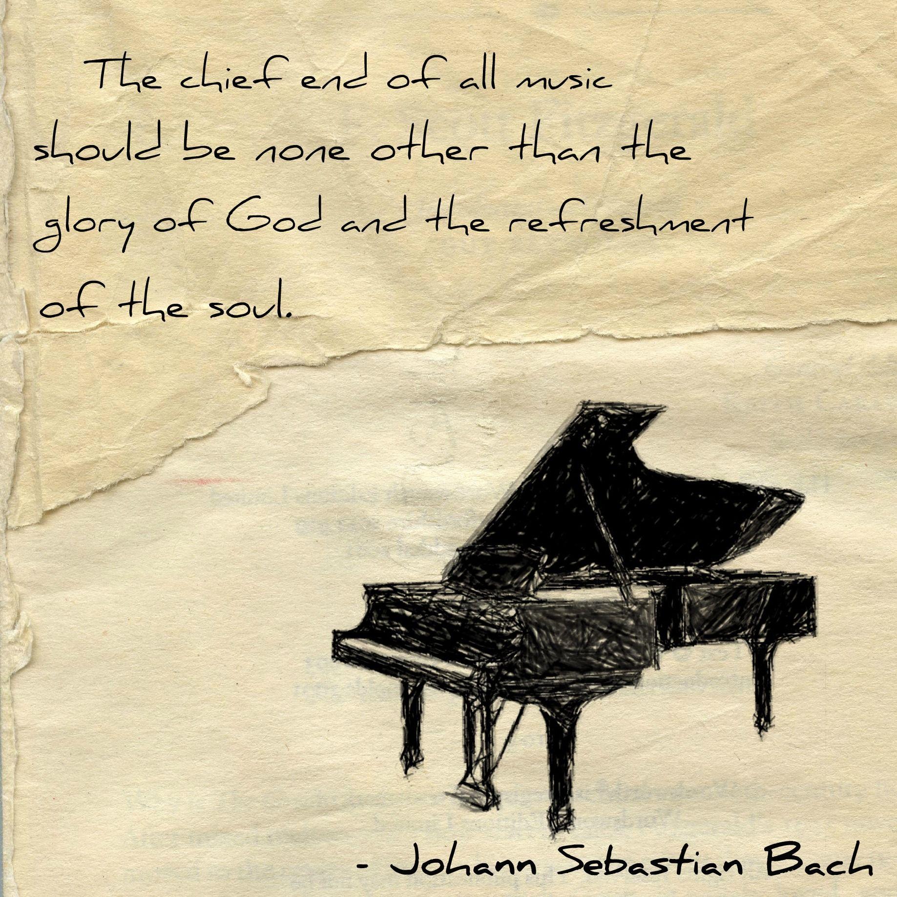 Johann Sebastian Bach gives all glory to God I d love to have this