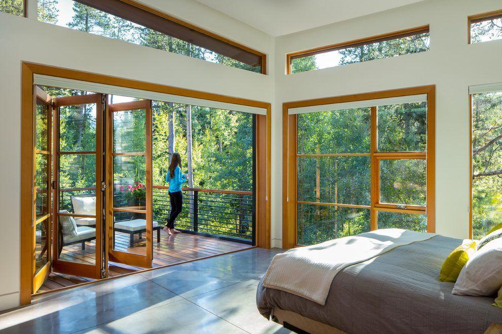 Pin By Lgold On My Future Log Cabin Master Bedroom Windows Contemporary Doors Small Balcony Decor