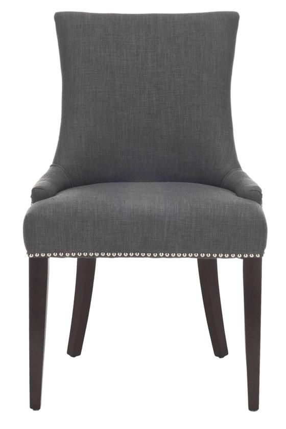 Becca Grey Leather Dining Chair 0845200770 Dining Chairs Linen