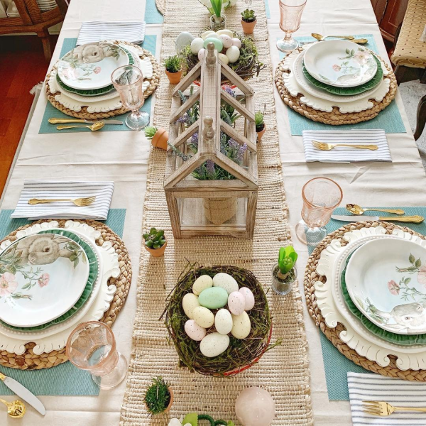 Pier1love Pier 1 Easter Pastel Bunny Greenhouse Table Decorations Pier Business Furniture