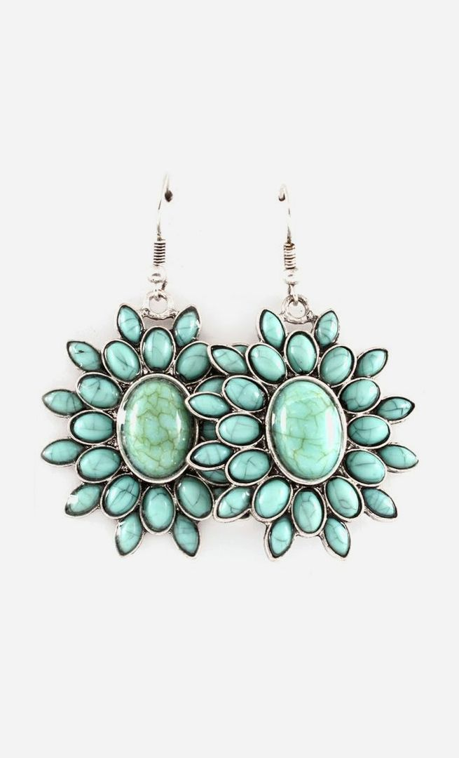 Marquise Calla Earrings in Turquoise