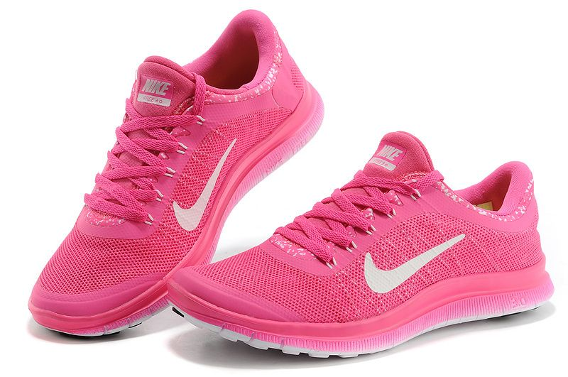 detailed look 59962 2bfac Barefoot Nike Free 3.0 V6 Shoes Full pink white Save  49% off
