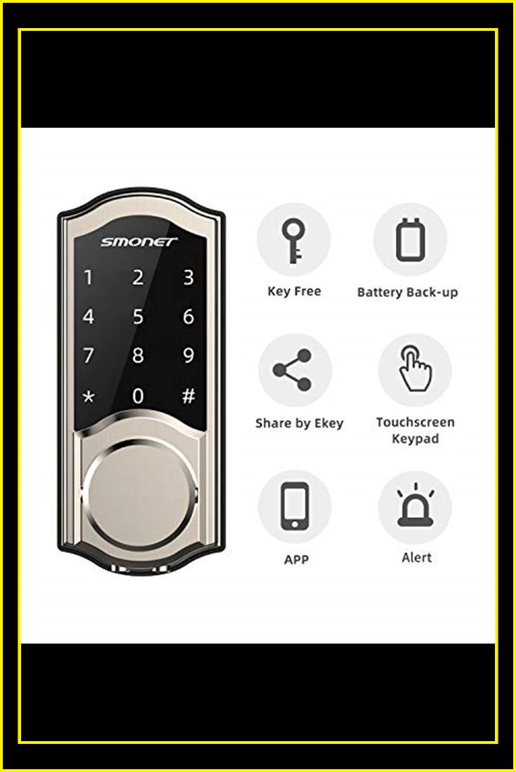 2020 Newest Smart Door Lock Smonet Smart Deadbolt Bluetooth Keyless Touchscreen Enable Mechanical Keys In 2020 Smart Deadbolt Smart Door Locks Electronic Deadbolt