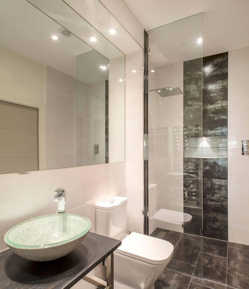 Banheiro Pequeno Preto E Branco