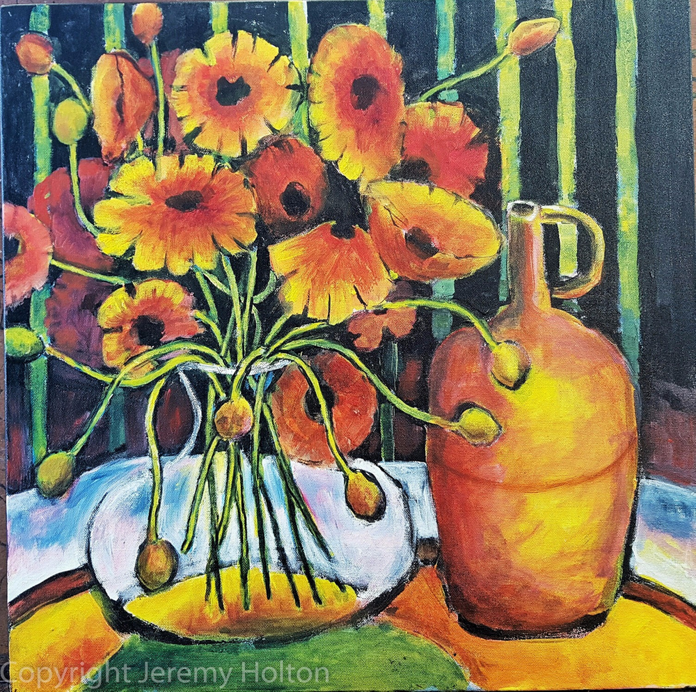 #PTG Just lovely flowers to bring joy into your life. The intertwining of the stems of the poppies are inspired by Celtic art