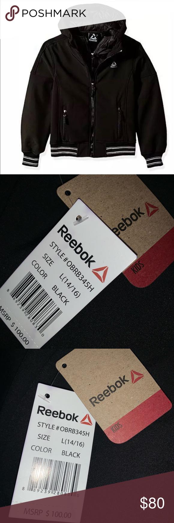Boys Reebok Active Vestee Jacket Black Size 14 16 Boys Reebok Vestee Jacket With Striped Hem Size 14 16 Nwt Reebok Jackets Jackets Clothes Design Reebok [ 1740 x 580 Pixel ]