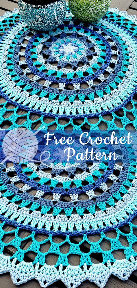 Starry Mandala – Free Pattern  #crochetmandalapattern