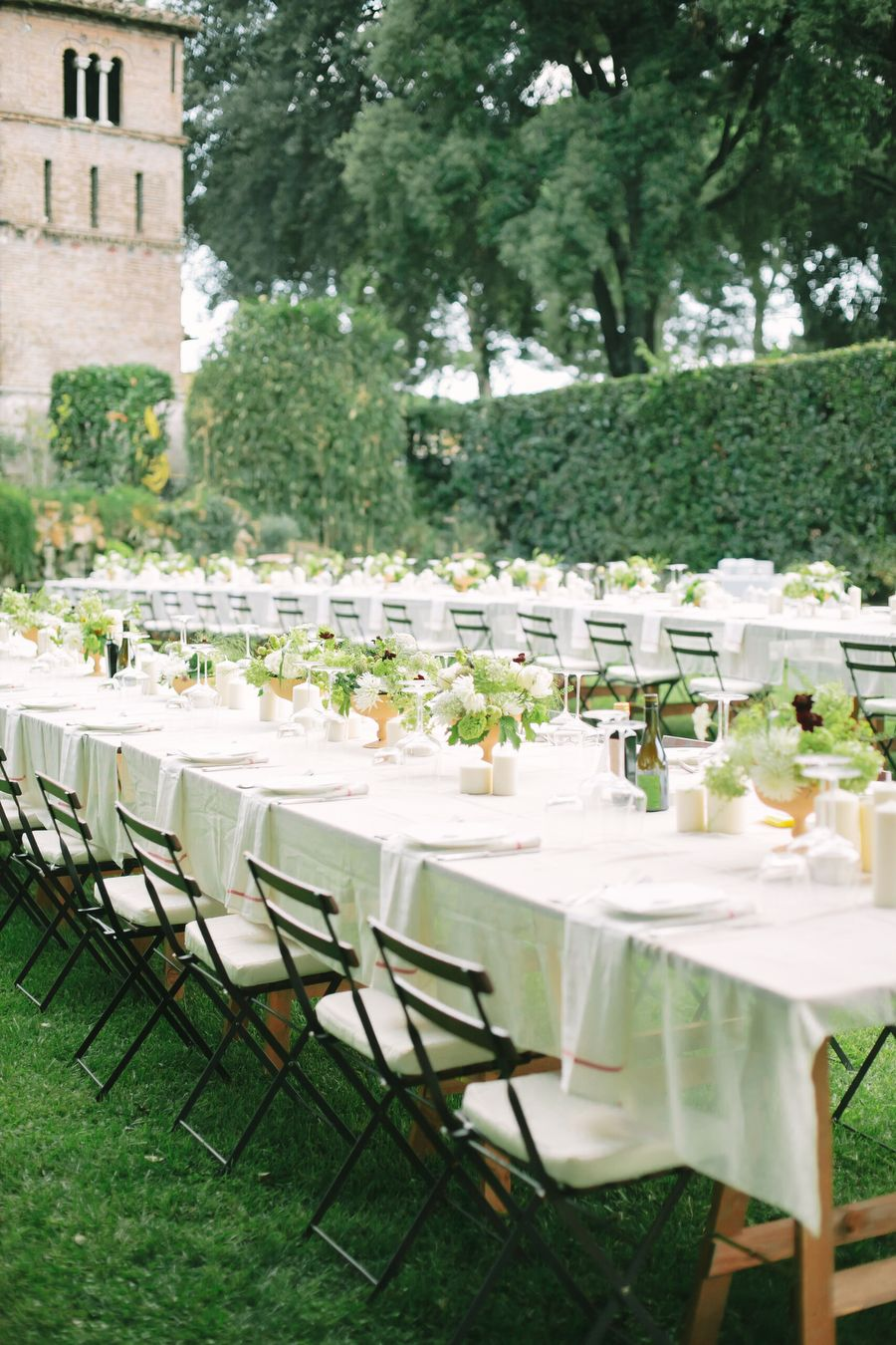 Studio A+Q - Un mariage champetre chic en vert et blanc a Rome -