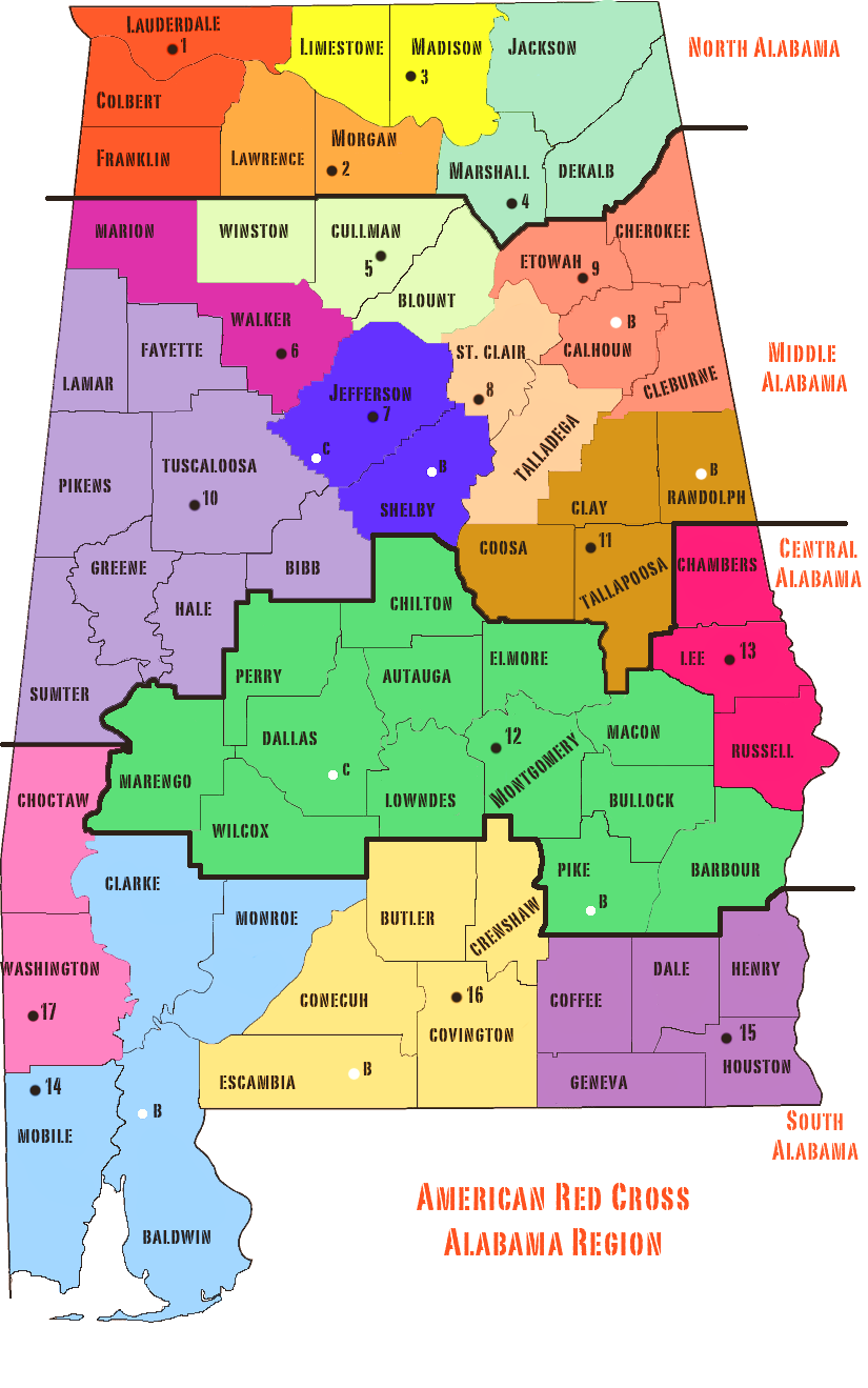 Map of Alabama Cities Counties State Map of USA States