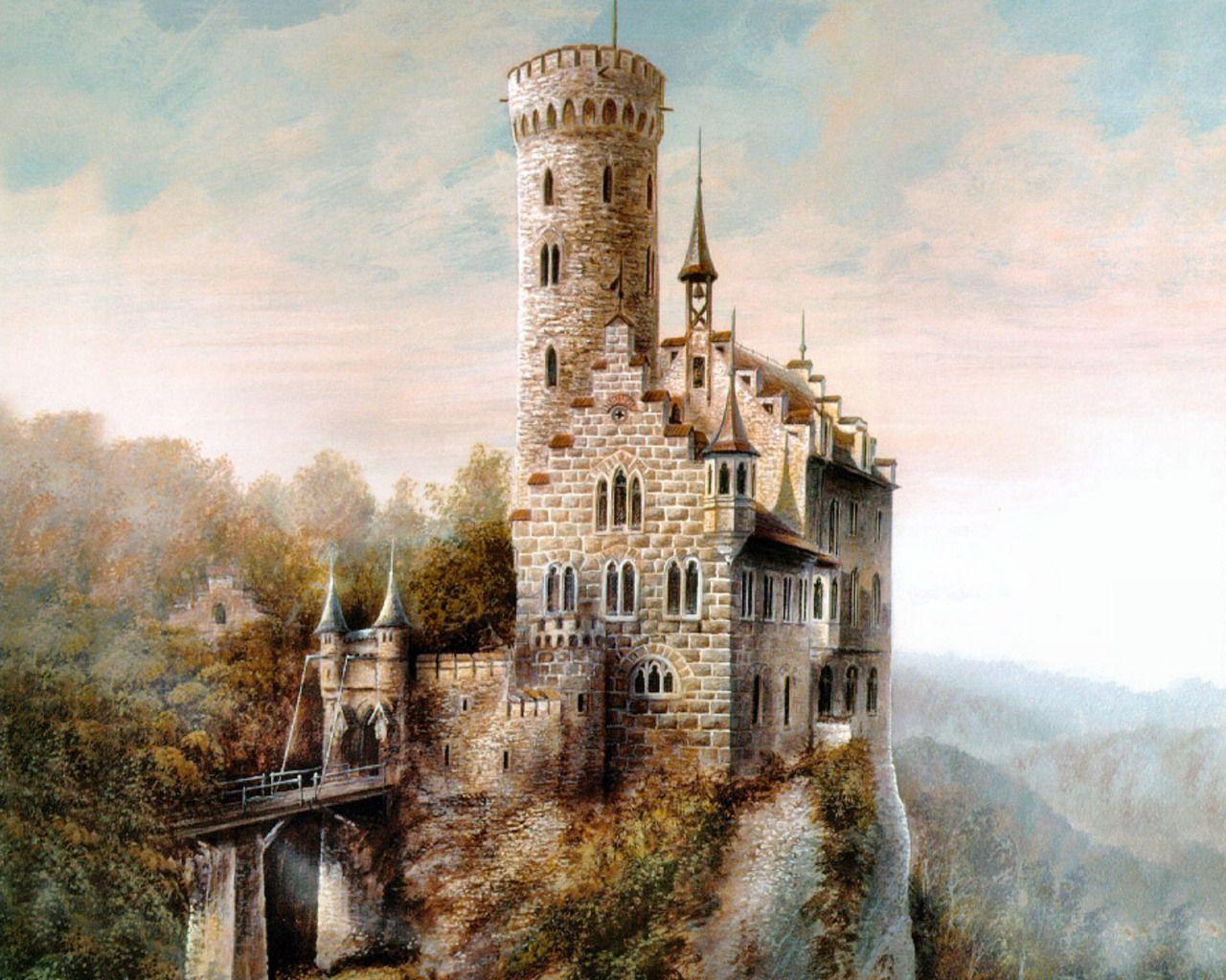 Medieval Castle Scenarimage Chateau Medieval Art Dessin