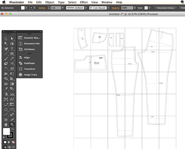 Pattern Drafting With Illustrator Pattern Drafting Pattern