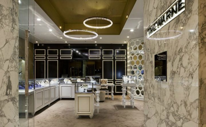 Lighting Ceiling Trewarne Fine Jewelry Store By MIM Design Chadstone Australia