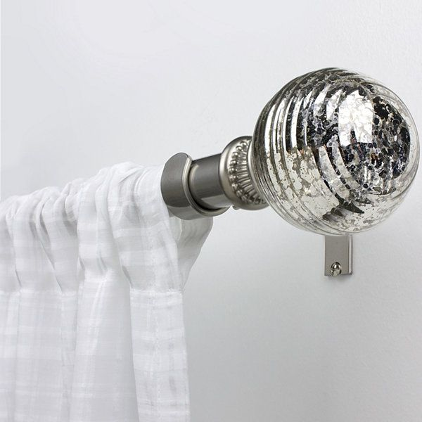 Bali Mercury Glass Adjustable Curtain Rod Jcpenney Mercury