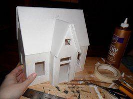 Foam Core Dollhouse Cardboard House