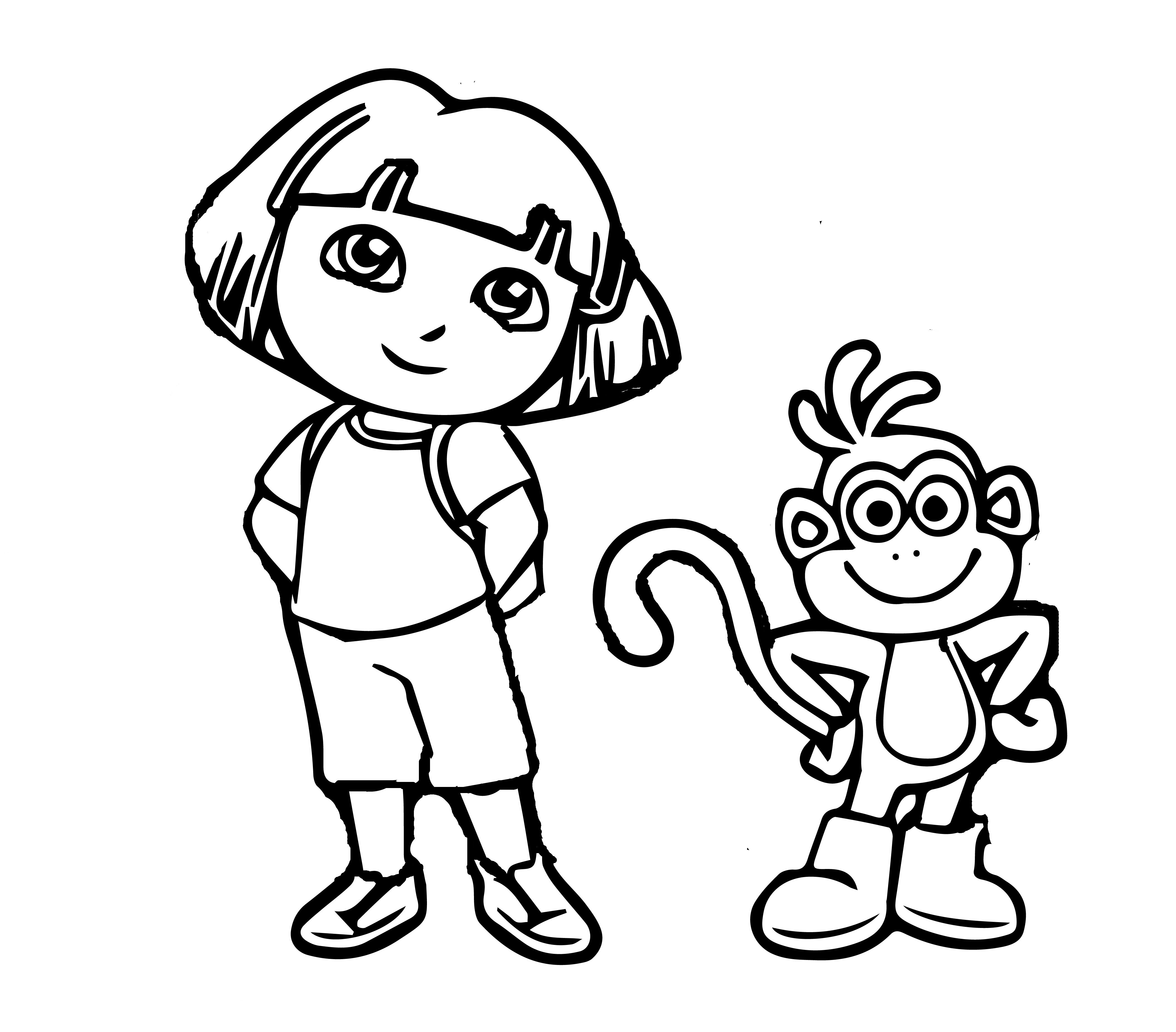 Dora The Explorer Coloring Pages And Sheets For Kids. | Dora The ...